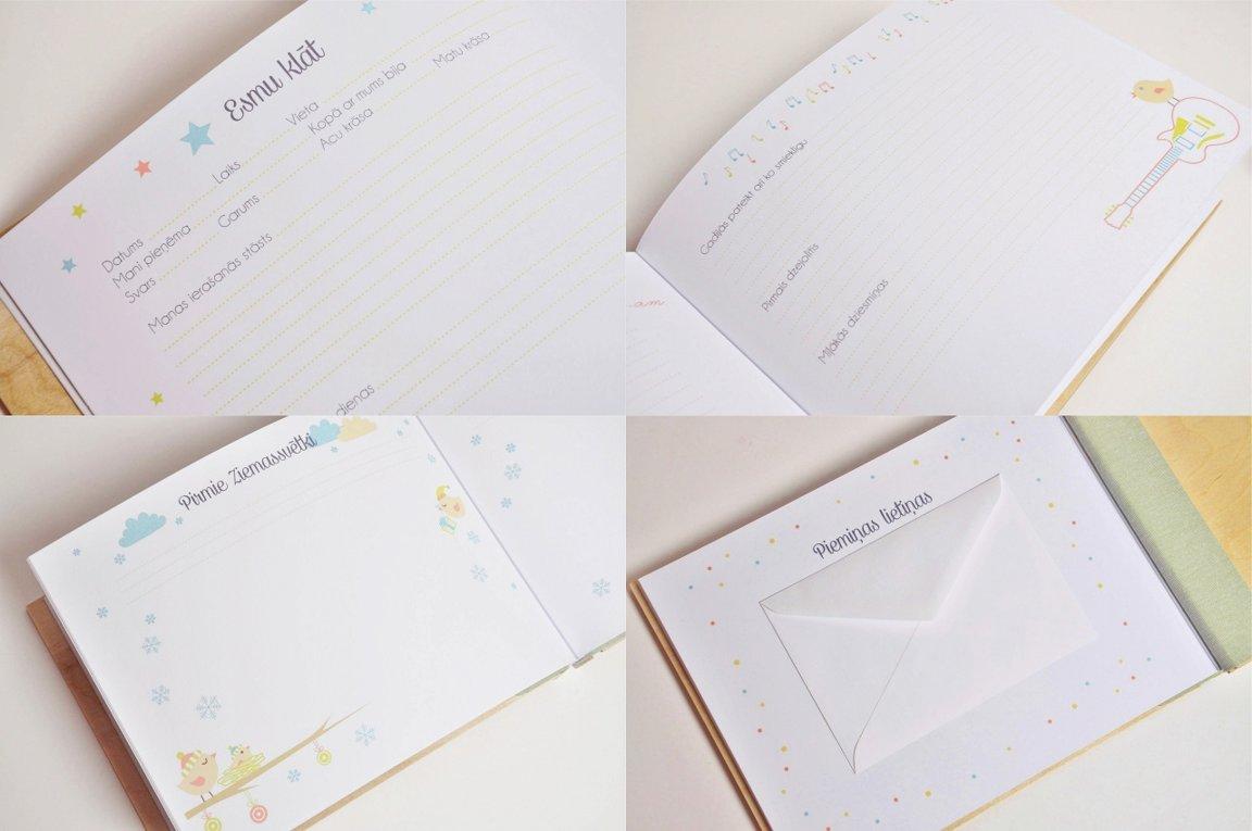 mazuļa dienasgrāmata - fotorāmis un gravējums