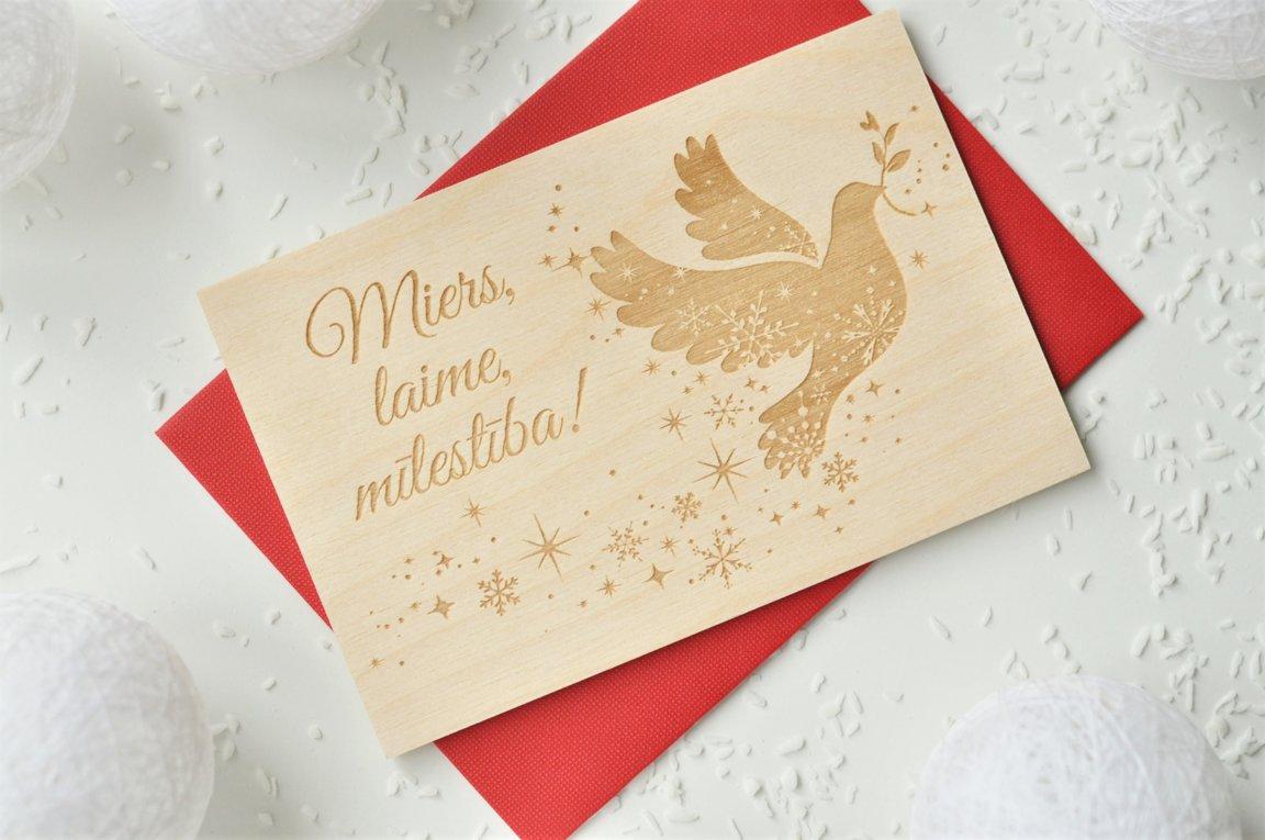 koka apsveikuma kartiņa - Ziemassvētki 4