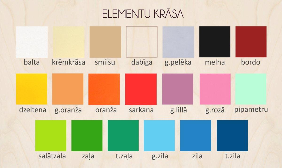 Pievieno krāsainus elementus