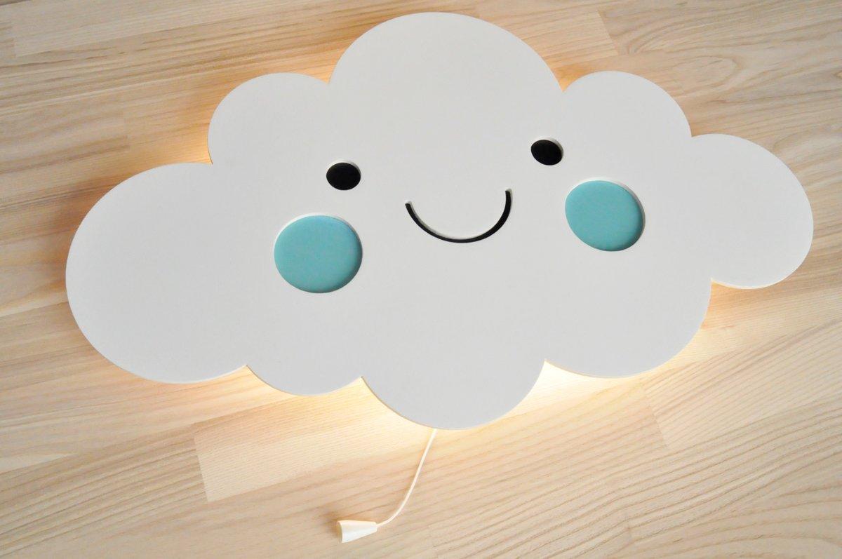 nakts lampa - mākonis smaidiņš