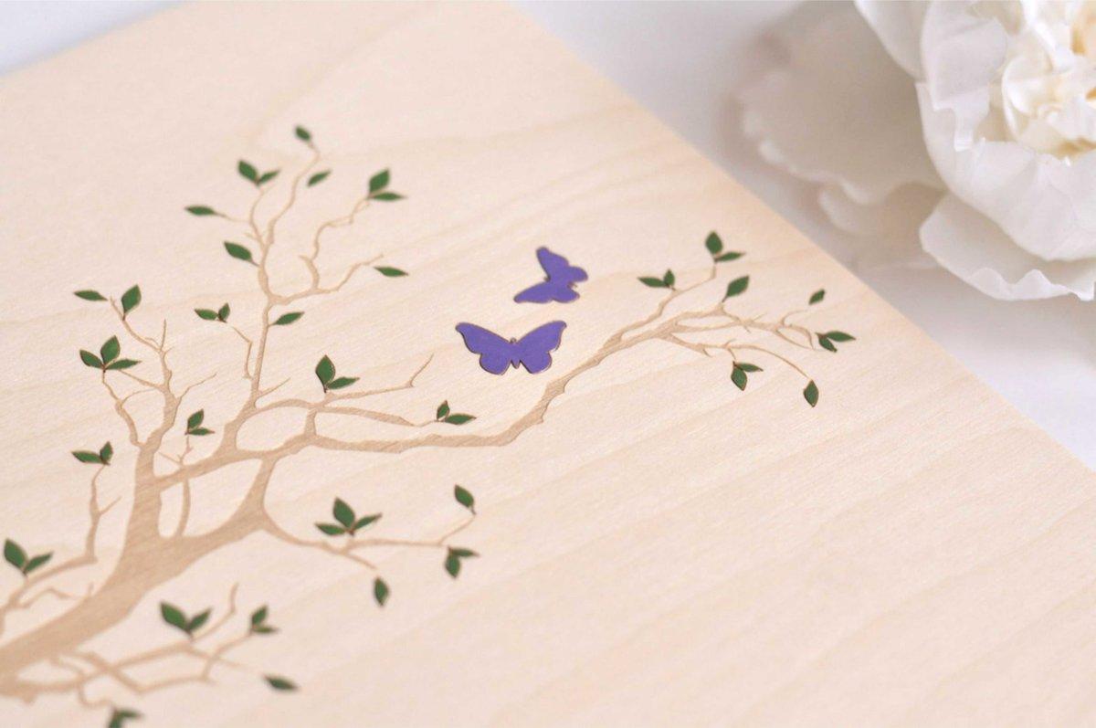 apliecību vāki - taureņi kokā