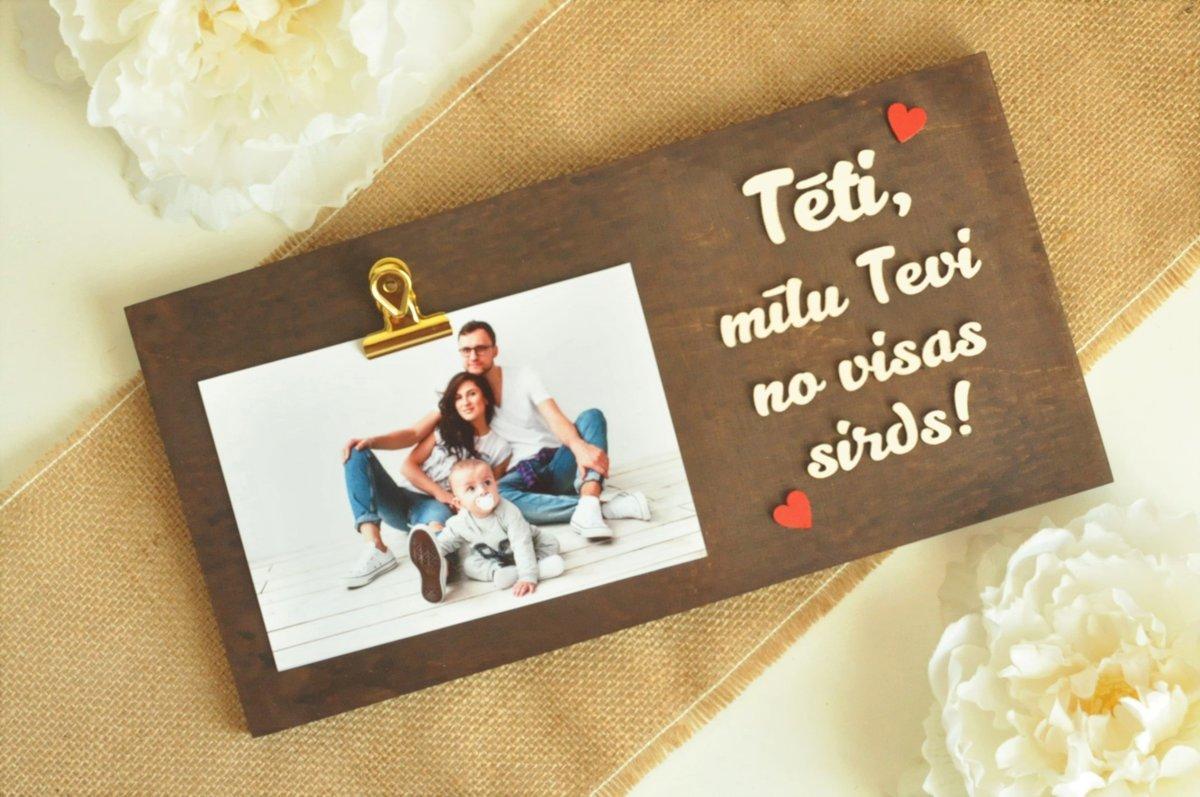 foto rāmītis - Tēti, mīlu!