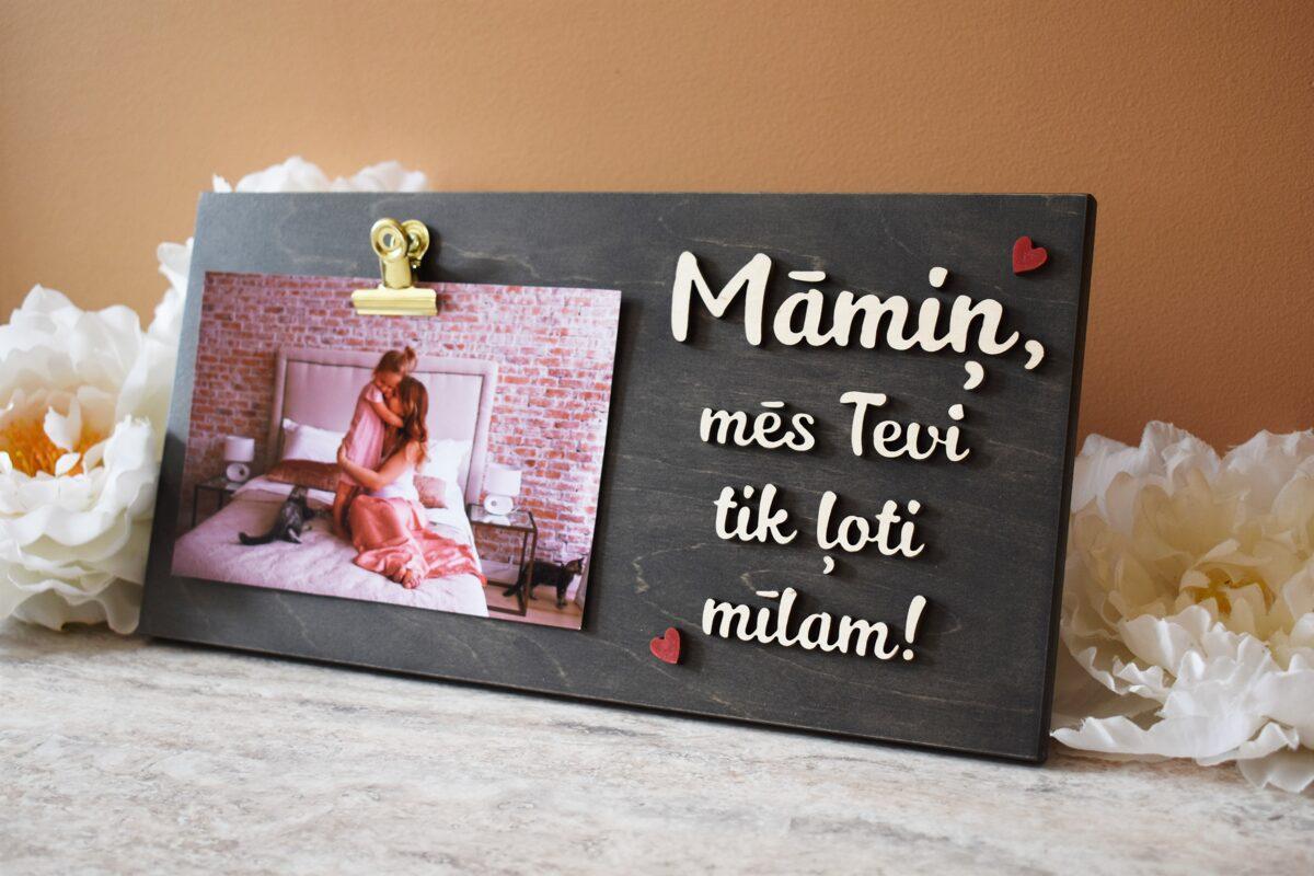 foto rāmītis - Māmiņ, ļoti mīlam!