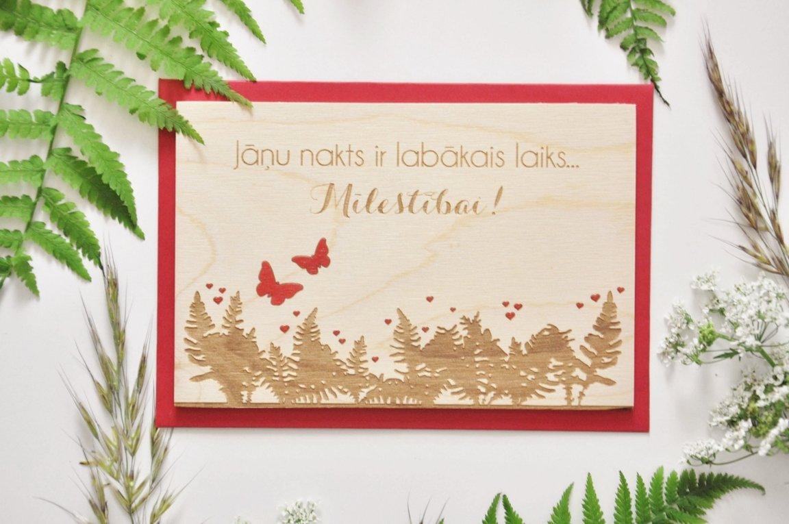 koka apsveikuma kartiņa - Jāņi 2