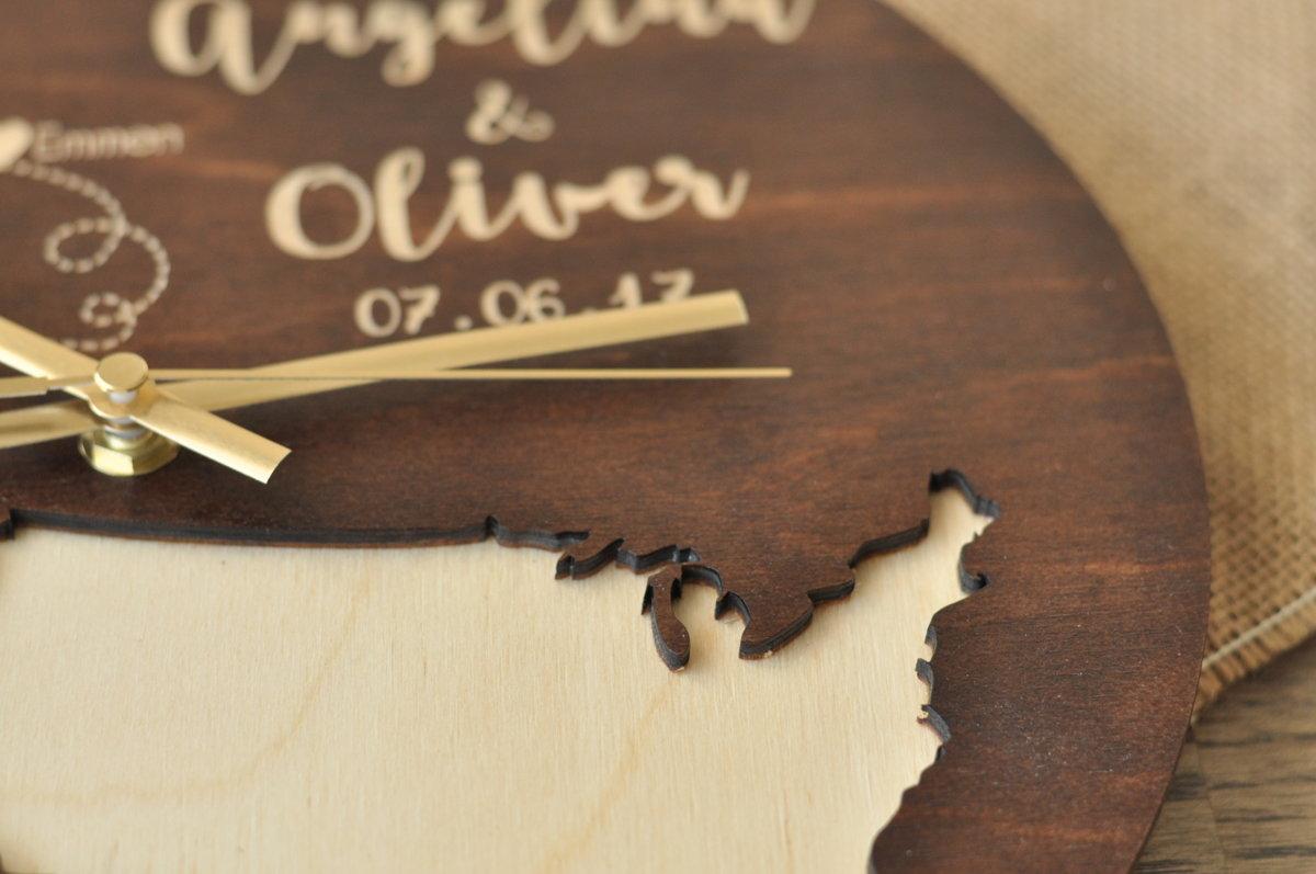 koka sienas pulkstenis - kartes (valrieksts)