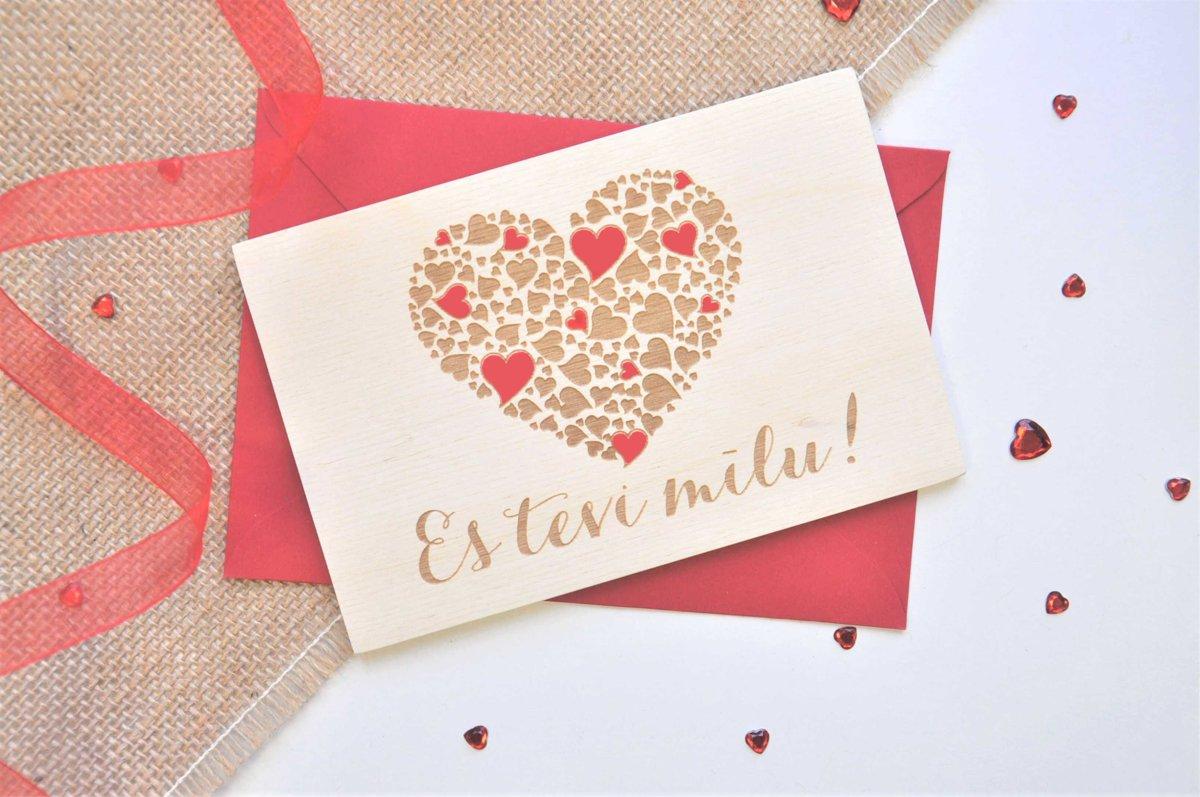 koka apsveikuma kartiņa - Valentīndiena 1
