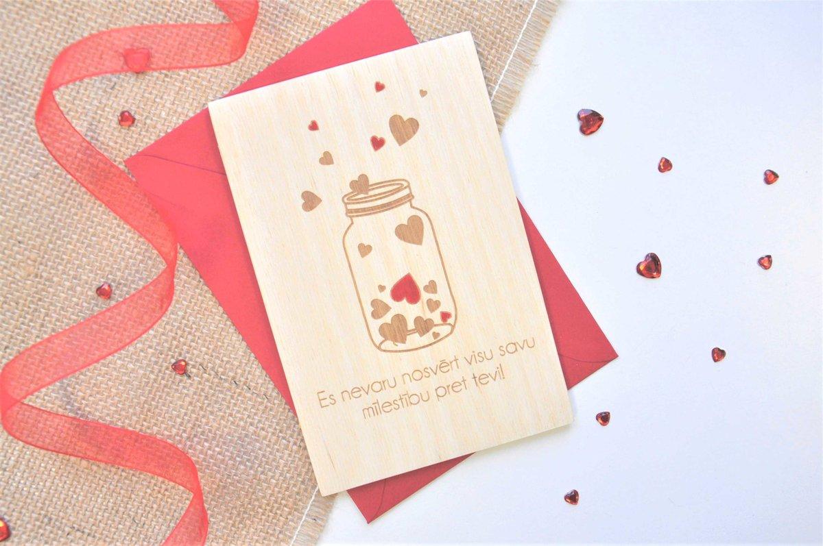 koka apsveikuma kartiņa - Valentīndiena 3