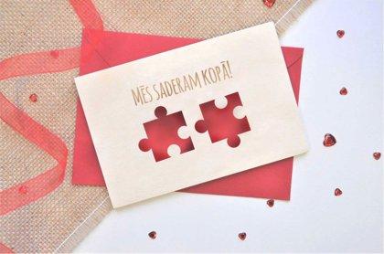 koka apsveikuma kartiņa - Valentīndiena 9