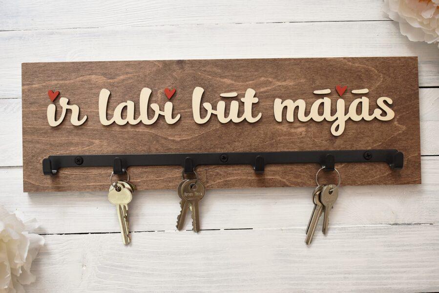 atslēgu pamakramais - ir labi būt mājās