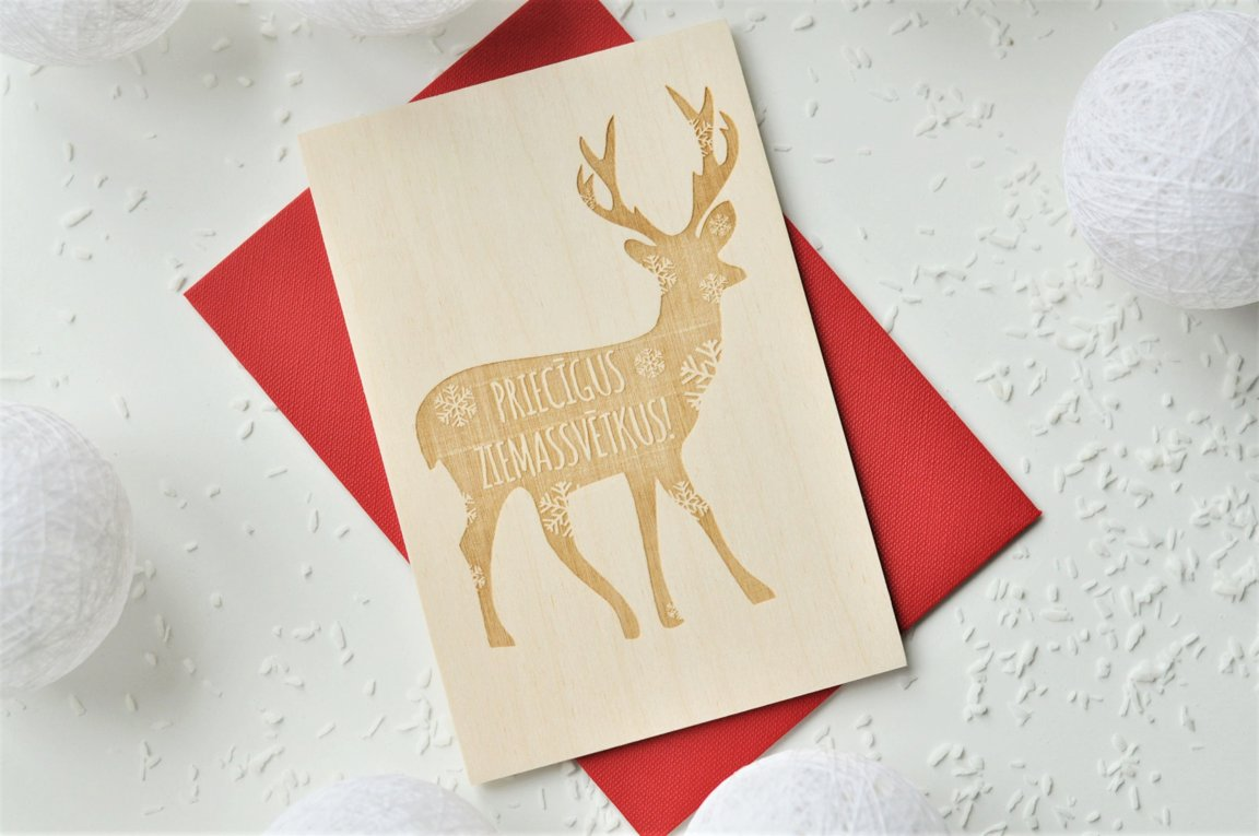 koka apsveikuma kartiņa - Ziemassvētki 2