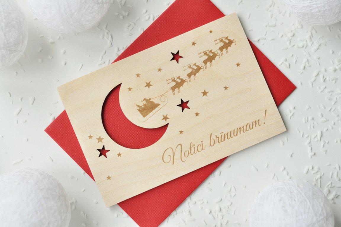 koka apsveikuma kartiņa - Ziemassvētki 1