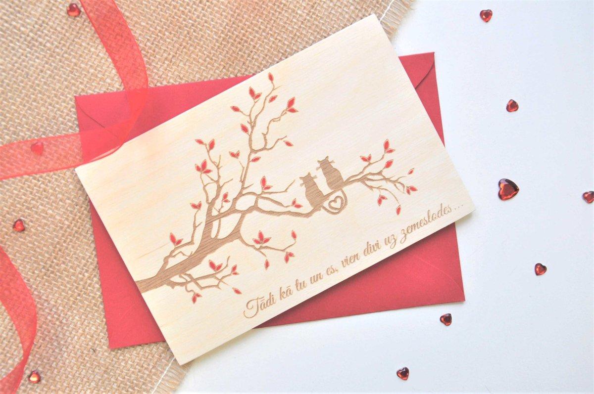 koka apsveikuma kartiņa - Valentīndiena 2