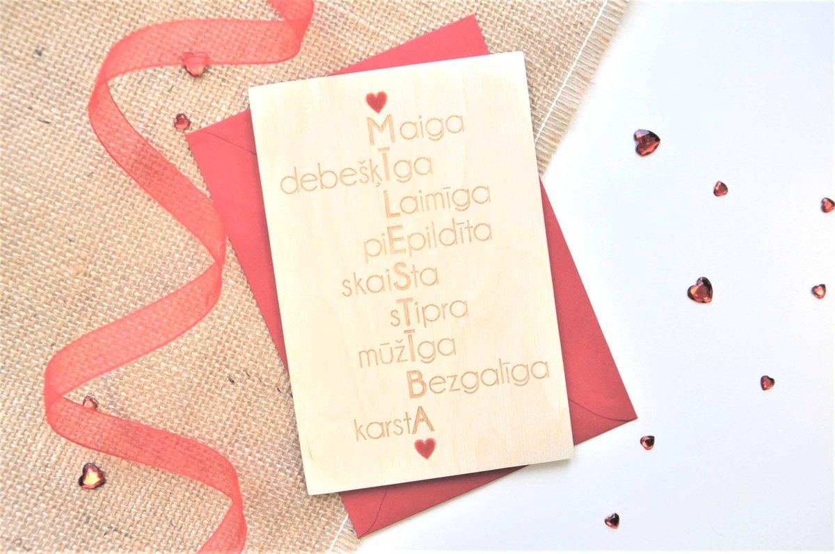 koka apsveikuma kartiņa - Valentīndiena 4