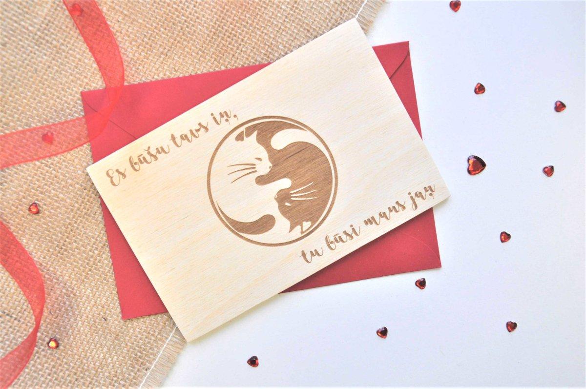 koka apsveikuma kartiņa - Valentīndiena 5