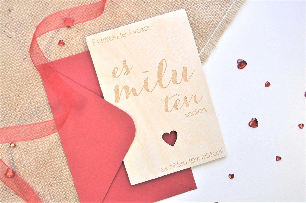 koka apsveikuma kartiņa - Valentīndiena 6