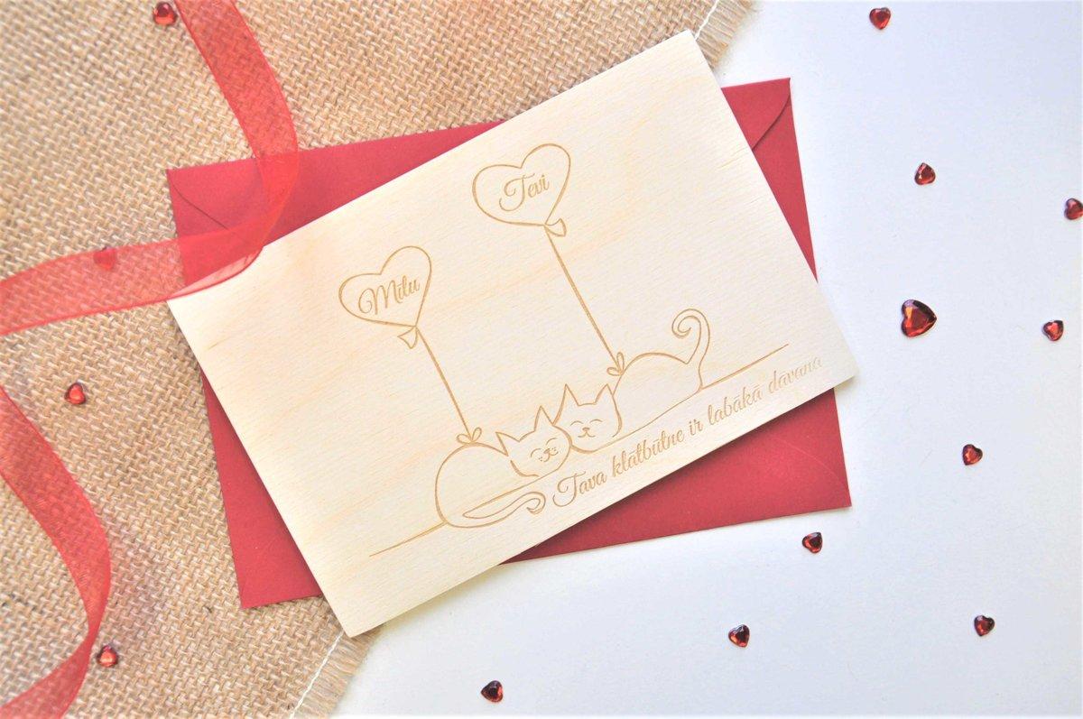 koka apsveikuma kartiņa - Valentīndiena 7